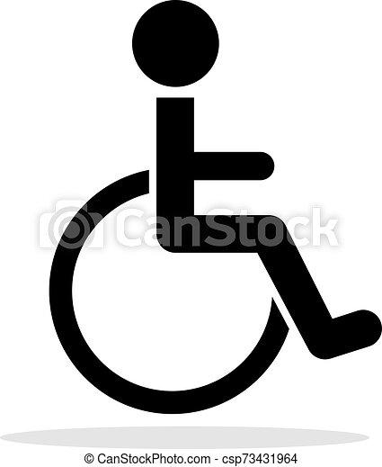 Disabled toilet icon - csp73431964