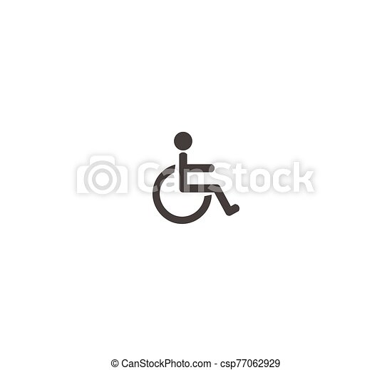 Disabled toilet toilet icon flat vector icon closeup isolated - csp77062929