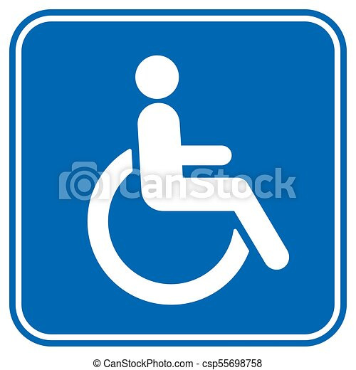 disabled wheelchair icon disable symbol logo vector clipart vector rh canstockphoto com handicap symbol vector file handicap accessible symbol vector