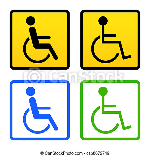 Disabled Wheelchair Sign - csp8672749