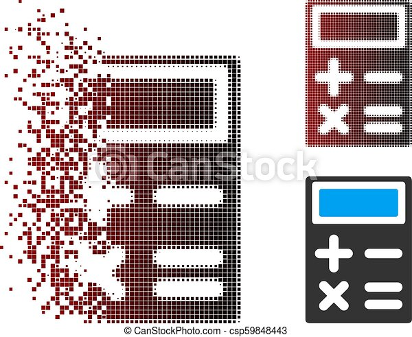 Disappearing Pixel Halftone Calculator Icon