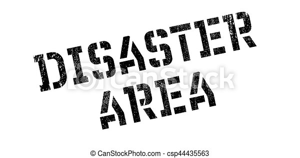 Disaster Area rubber stamp - csp44435563