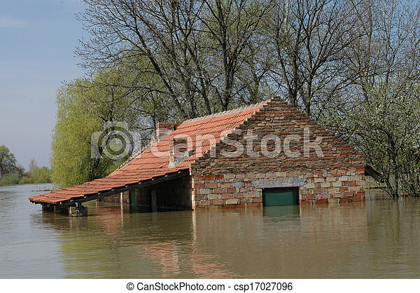 disaster due to flooding  - csp17027096