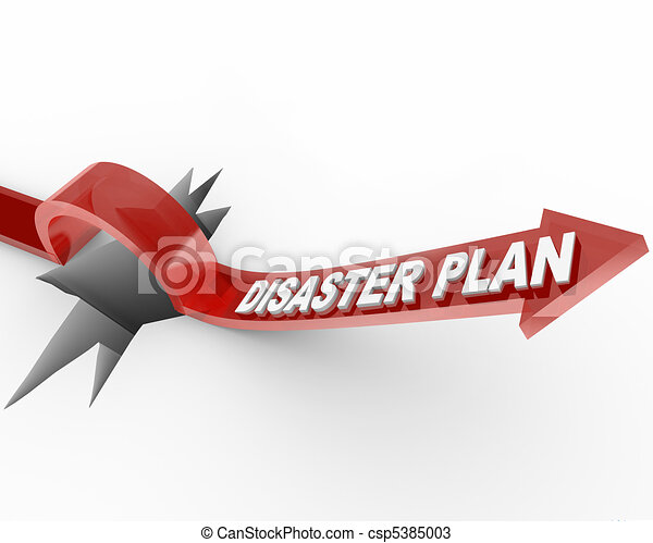 Disaster Plan - Arrow Jumping Over Hole - csp5385003