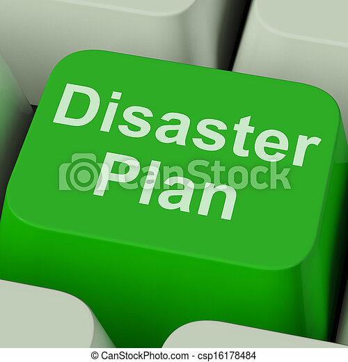 Disaster Plan Key Shows Emergency Crisis Protection - csp16178484