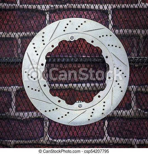 Disc brakes car. - csp54207795