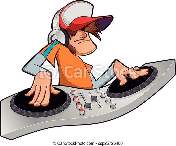 Disc jockey - csp25725480