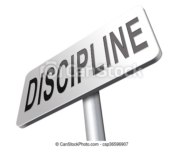 discipline and order - csp36596907