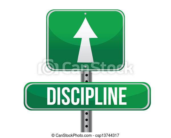 discipline road sign illustration  - csp13744317