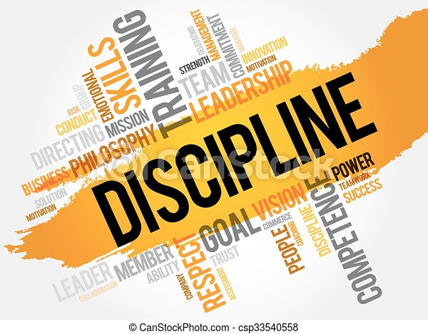 discipline word cloud business concept rh canstockphoto com classroom discipline clipart school discipline clipart