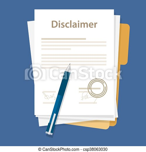 disclaimer document paper legal agreement signed stamp paper vector