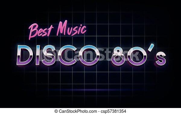 Disco 80's best music - banner