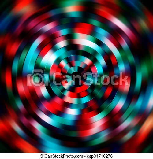 Disco Abstract Circle Background, Retro Pattern - csp31716276
