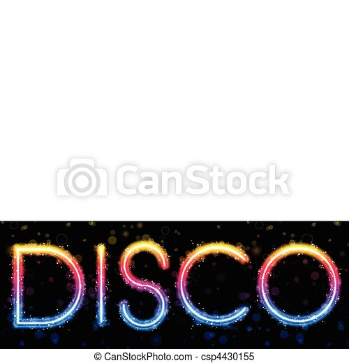 Disco Abstract Rainbow on Black Background - csp4430155