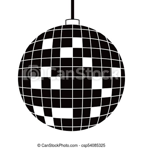disco bal pictogram bal illustratie disco achtergrond vector