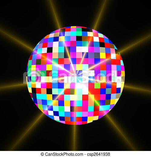 disco bal schitteren spiegel bal licht illustratie disco