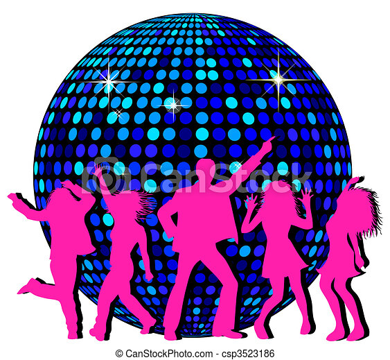 disco ball and dancing people stock illustration search clip art rh canstockphoto com disco ball clipart black and white disco ball clipart black and white