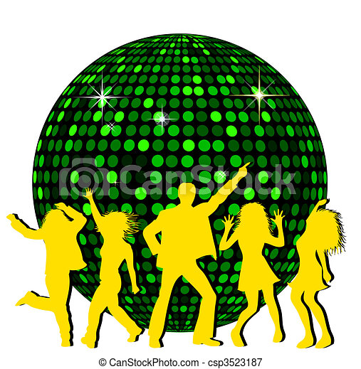 disco ball and dancing people stock illustrations search eps rh canstockphoto com disco clipart 70s disco clipart 70s