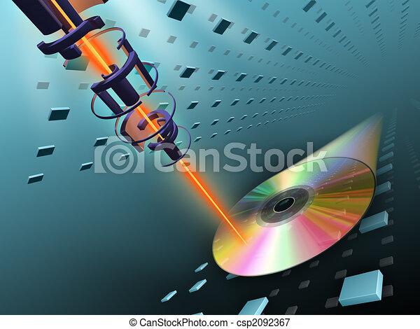 Quemando discos compactos - csp2092367