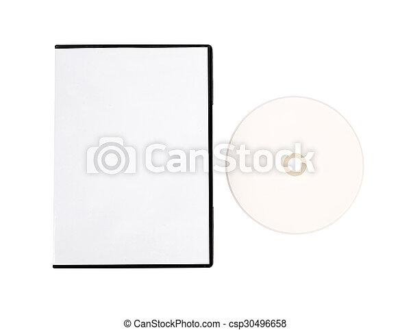 Un disco compacto en blanco - csp30496658