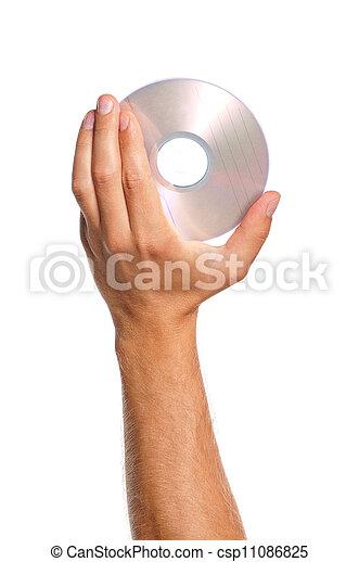 Mano con disco compacto - csp11086825