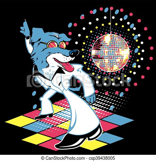 Disco Dog - csp39438005