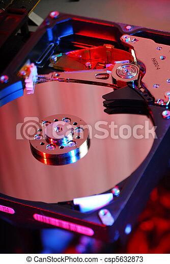 Trasfondo de disco duro - csp5632873