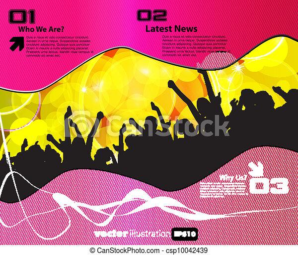 Disco event background - csp10042439