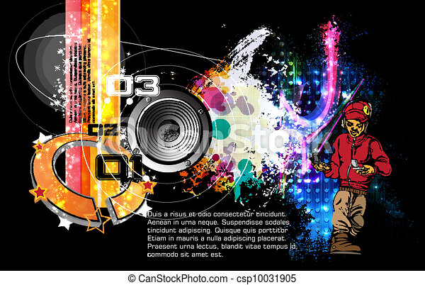 Disco event background - csp10031905