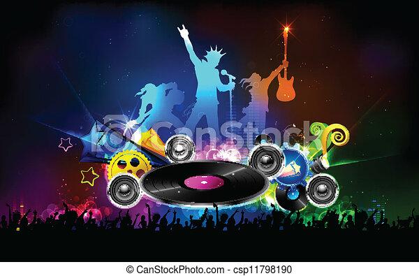 disco, fête, jockey, nuit - csp11798190