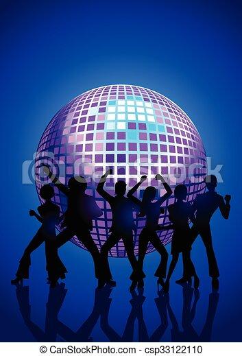 Gente bailando disco - csp33122110