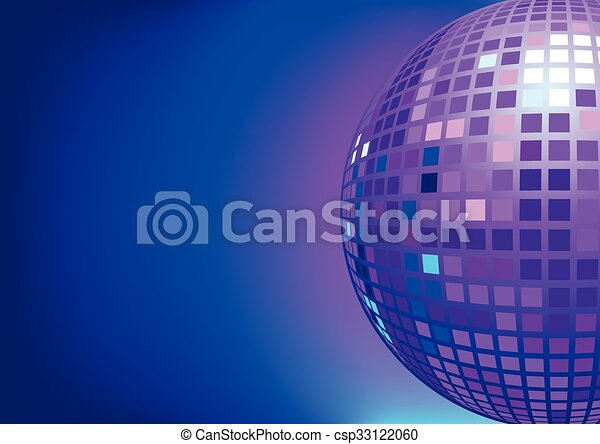 disco light ball illustration of mirror disco ball for background