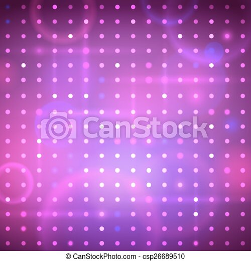 Disco Lights Vector Abstract Background With