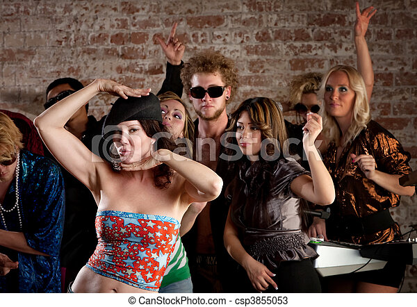 fiesta dama bailando