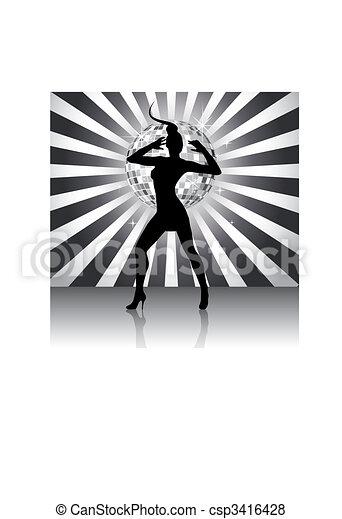 Disco queen silhouette - csp3416428