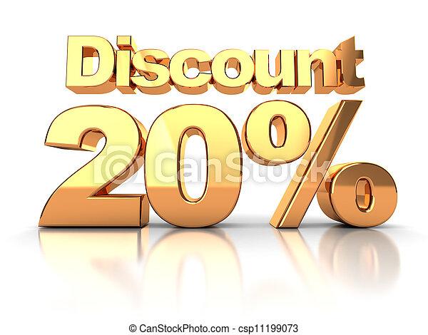 Discount 20 percent - csp11199073