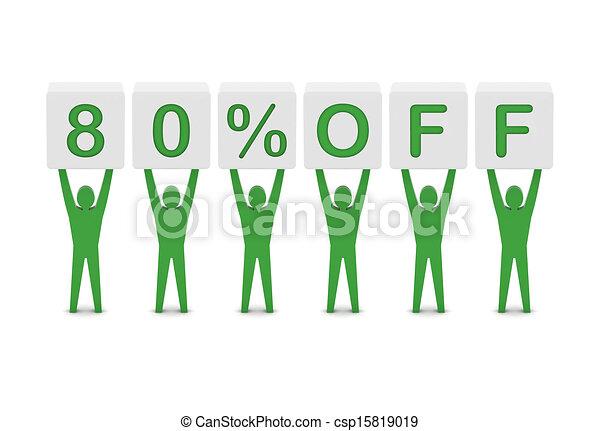 Discount. 80 percent off.  - csp15819019