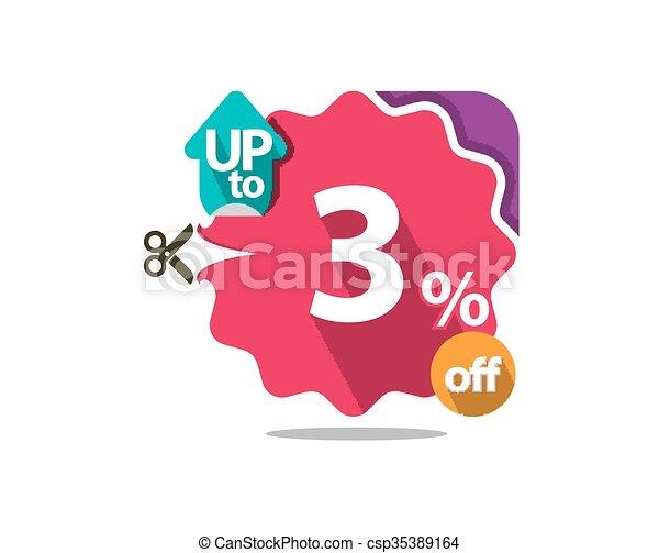 Discount badge  - csp35389164
