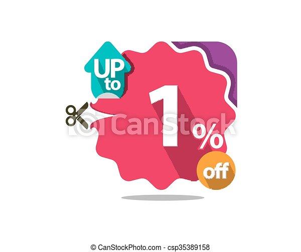 Discount badge  - csp35389158