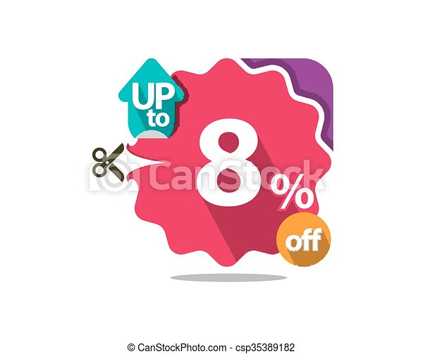Discount badge  - csp35389182