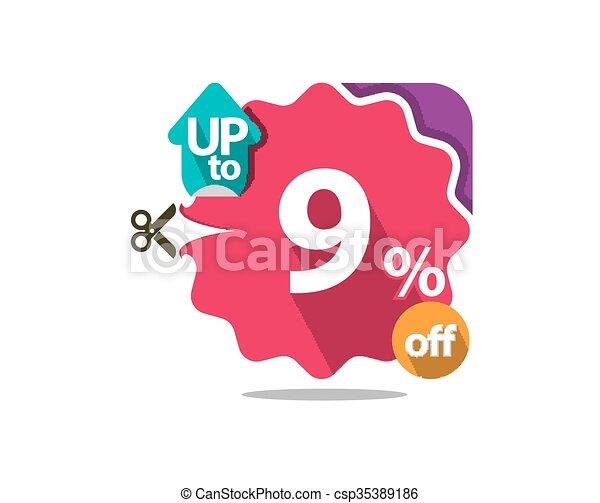 Discount badge  - csp35389186