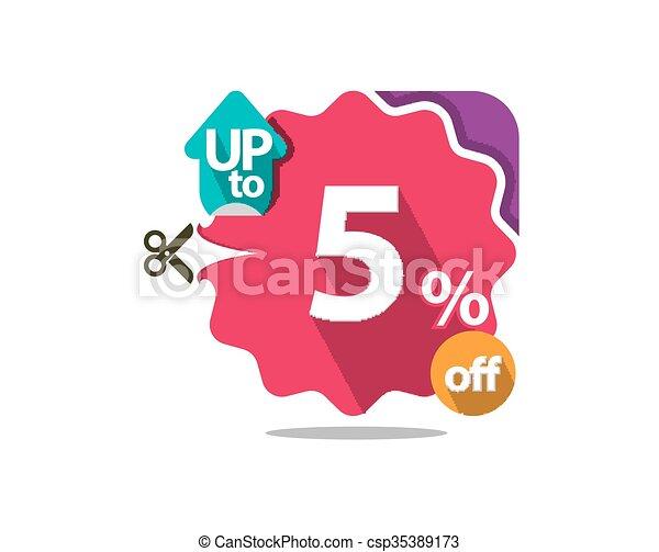 Discount badge  - csp35389173
