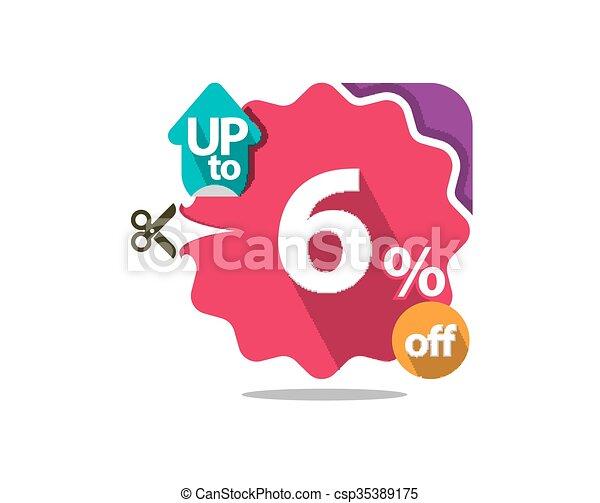 Discount badge  - csp35389175