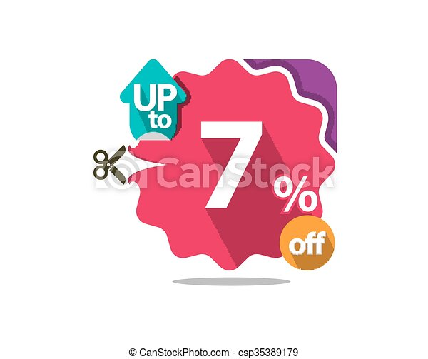 Discount badge  - csp35389179