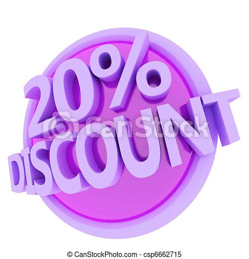 discount button - csp6662715