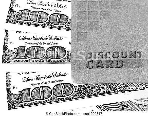 Discount card and money - csp1290517