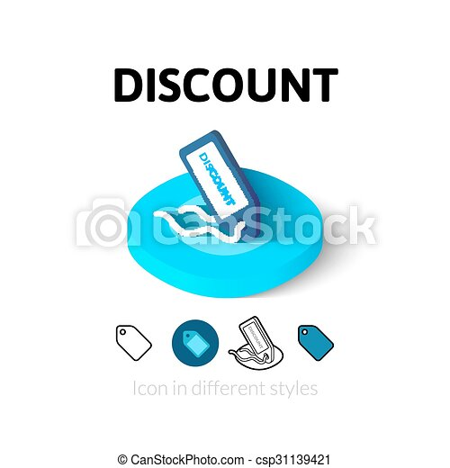 Discount icon in different style - csp31139421