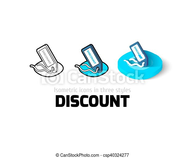 Discount icon in different style - csp40324277