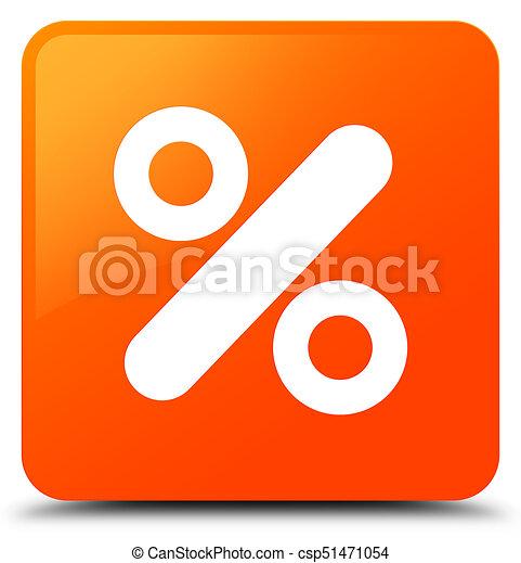 Discount icon orange square button - csp51471054