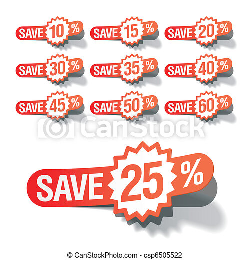 Discount labels - csp6505522